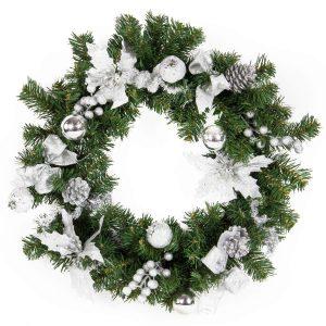 Silver Wreath 50cm