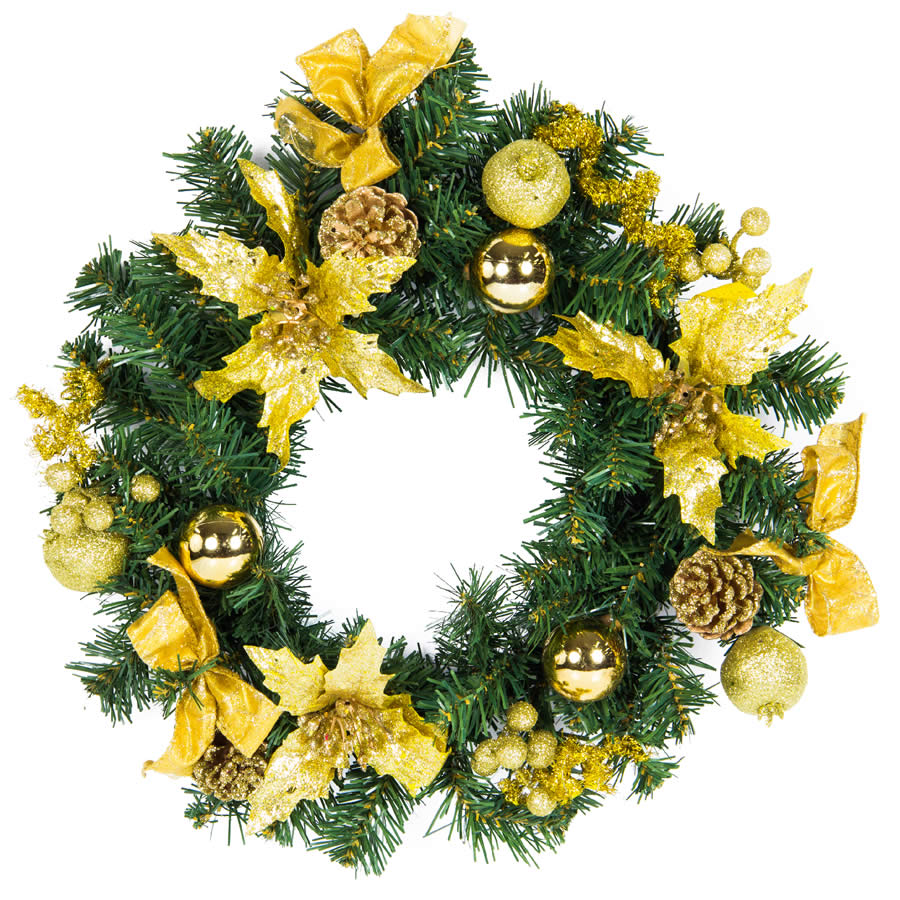 Gold Wreath 40Cm