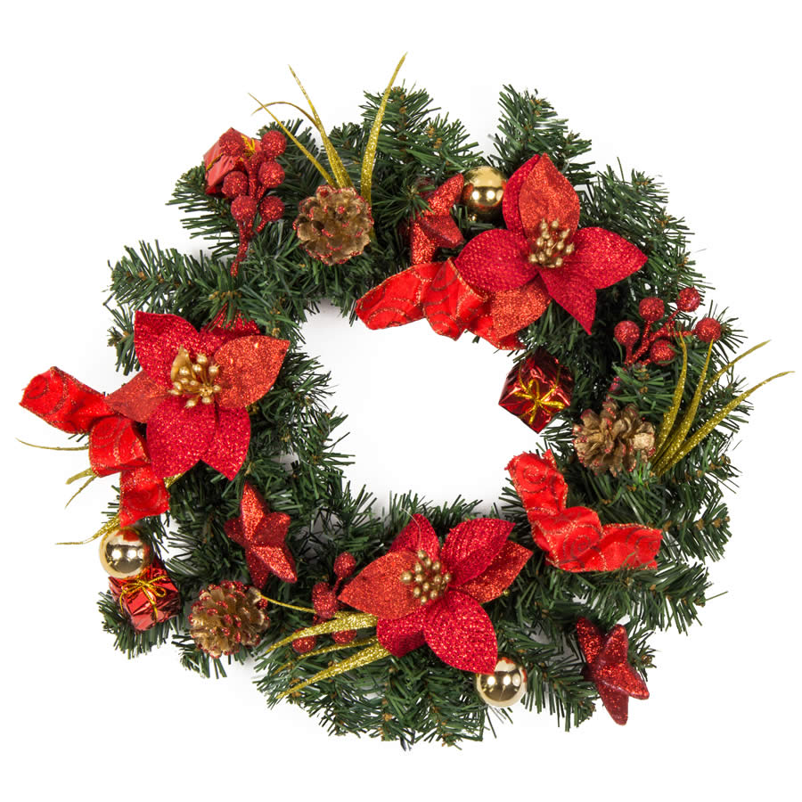 Red Wreath 40Cm