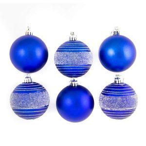 Blue Glitter Spun 7cm 6pk