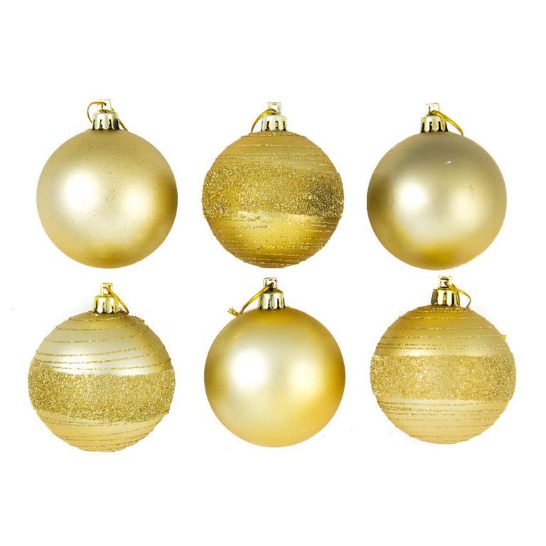 Gold Glitter Spun 7cm 6pk