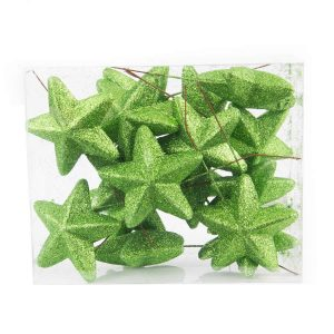 Lime Stars 6.5cm 25pk