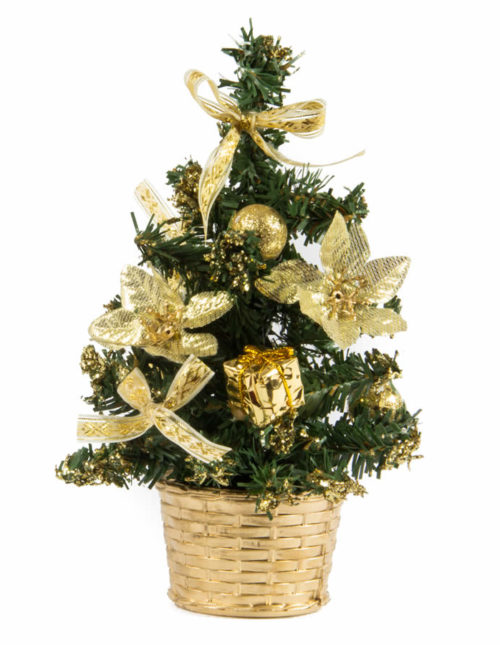 Gold Table Tree 23cm
