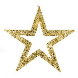60cm Gold Spun Star