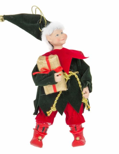 Elf Holding Gift No.2 - 11cm