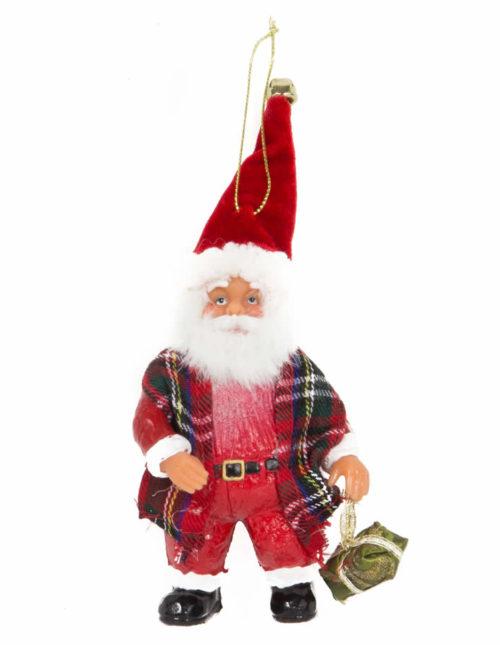 Standing Santa Holding Gift