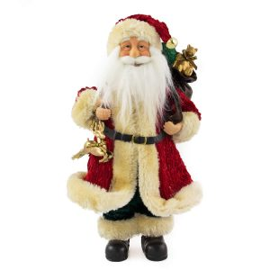 Traditional Long Coat Santa 30cm
