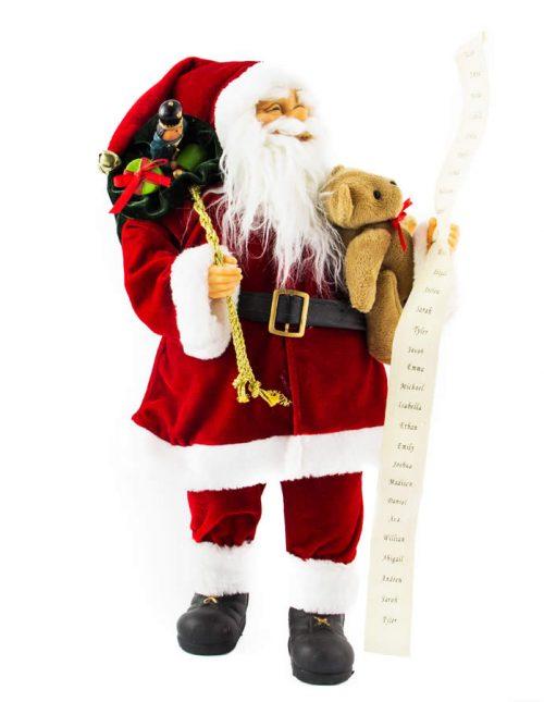 Santa With Bear 46Cm