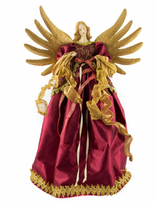 Burgundy Angel 56Cm