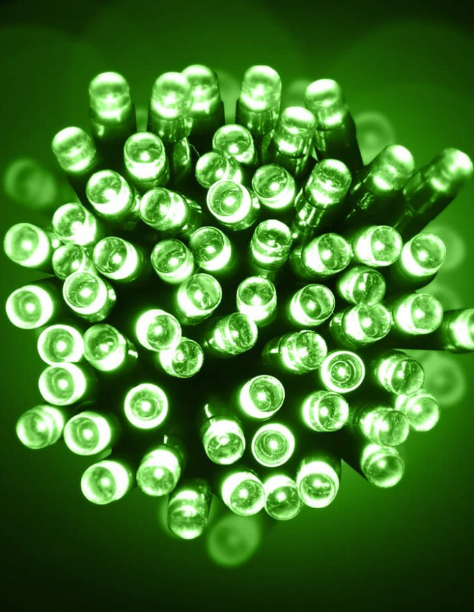 Led 10M Lights green