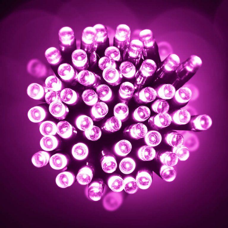 Led 10M Lights Pink