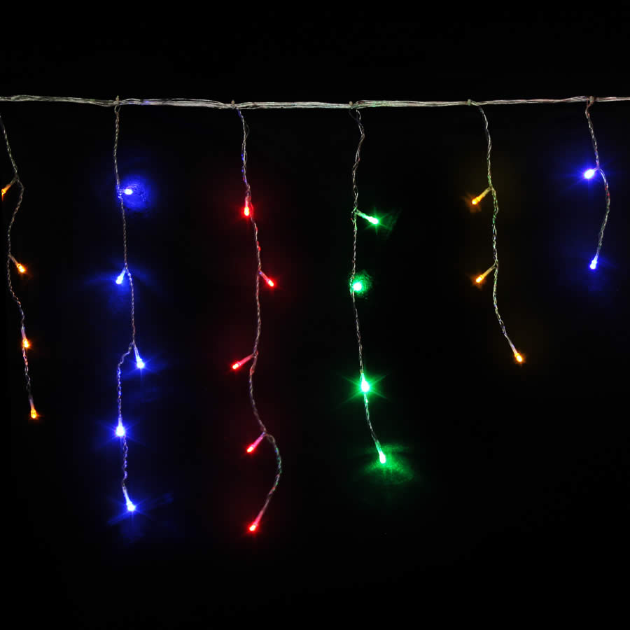 multicolour icicles led christmas lights icicle lights. Black Bedroom Furniture Sets. Home Design Ideas