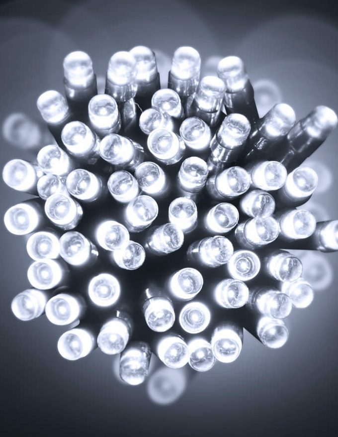 Led 20M Lights Pure White green Wire
