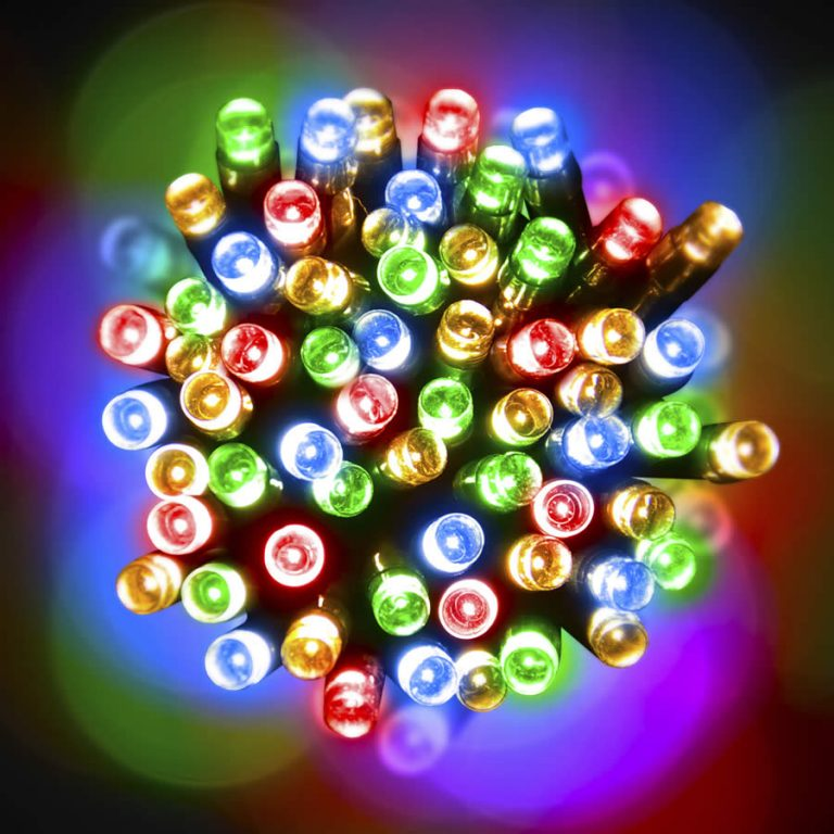 Led 20M Lights Multicolour green Wire