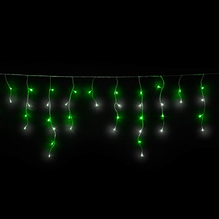 green & White Led Icicles