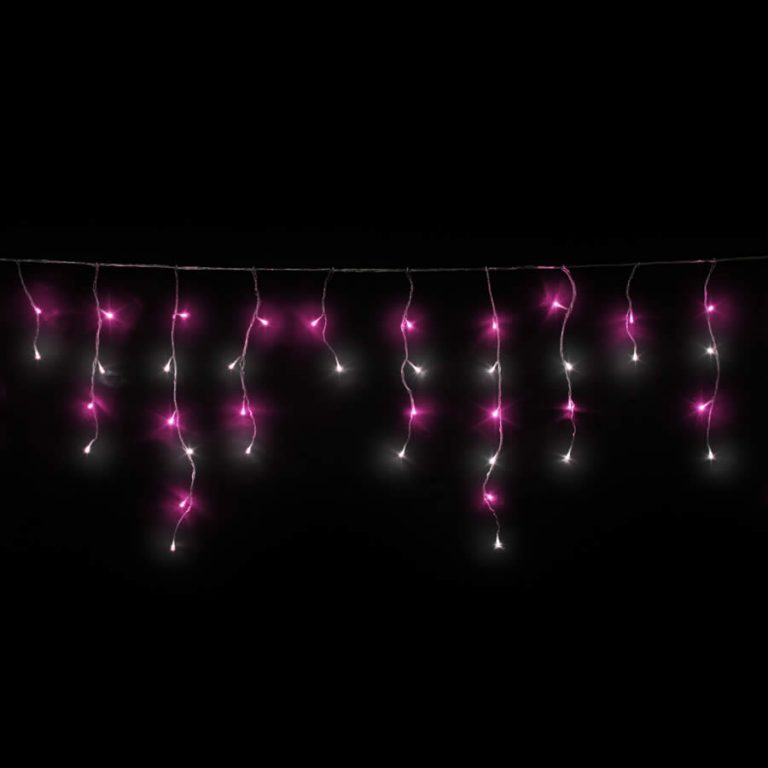 Pink & White Led Icicles