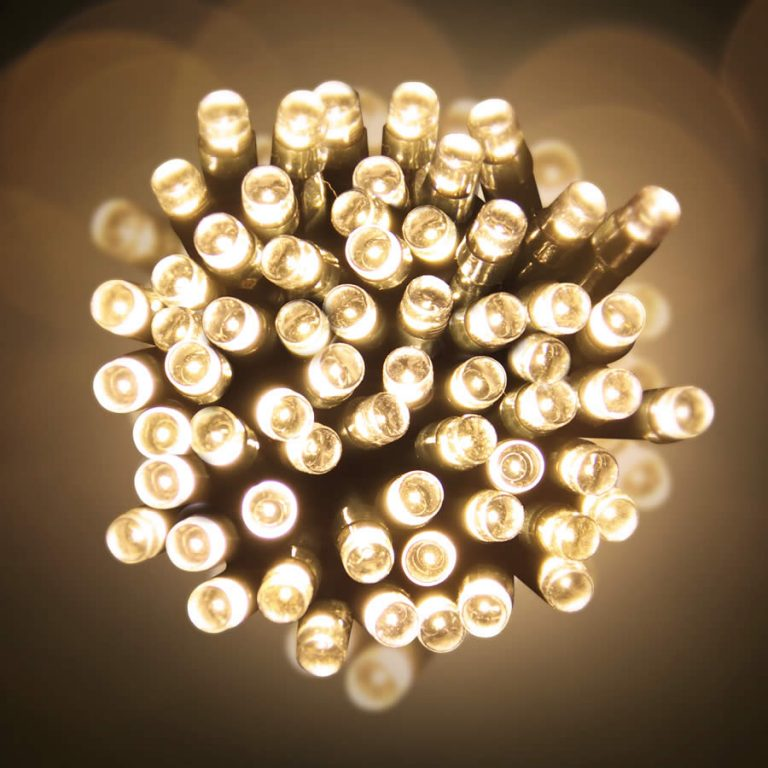 Led 10M Lights Warm White green Wire