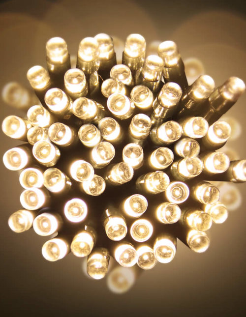 Led 20M Lights Warm White green Wire