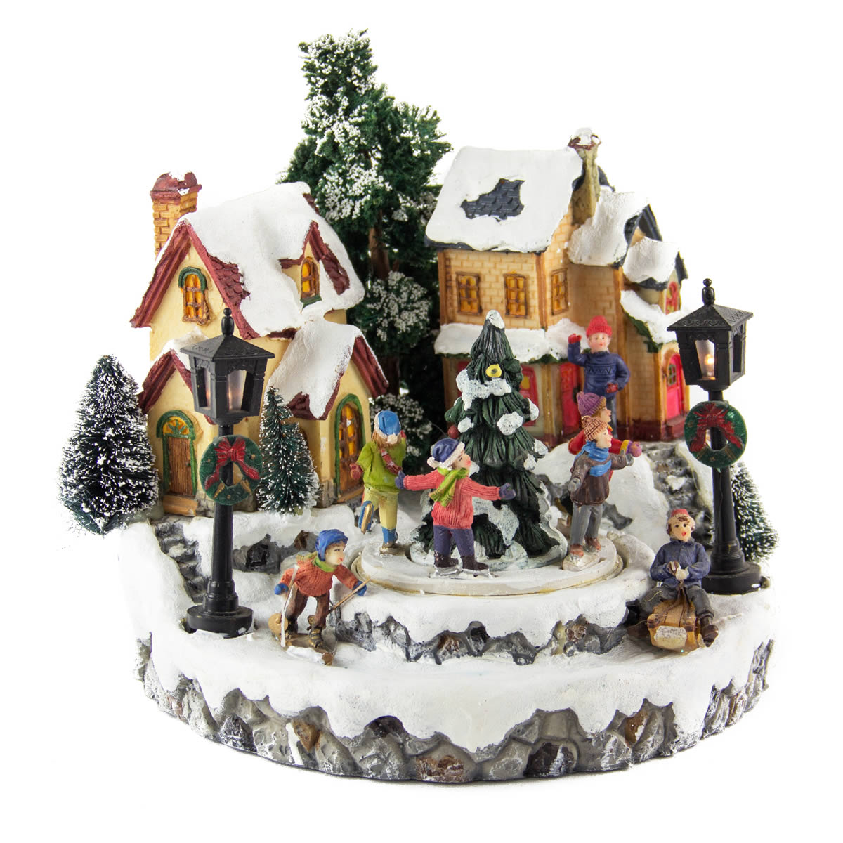 Winter Skating Village - 30cm