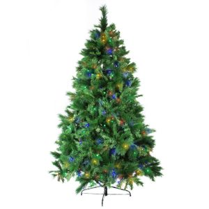 Noble Pine Mix Pre Lit 225Cm Multi Led