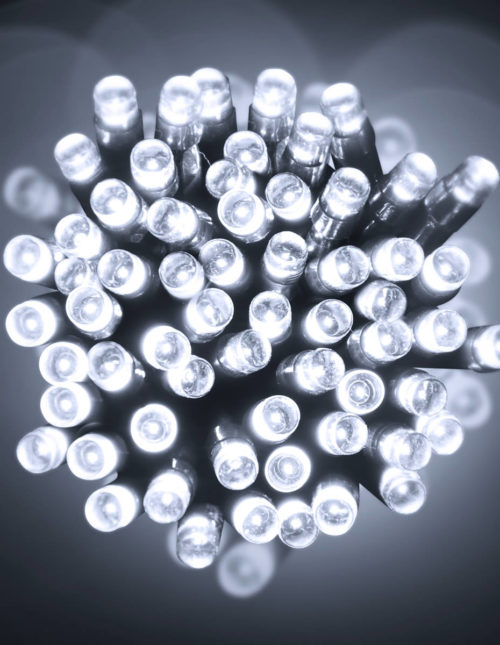 100 Cold White LED Battery Lights