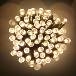 100 Warm White LED Battery Lights