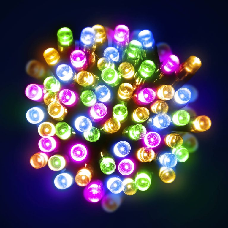 100 Multicolour LED Battery Lights