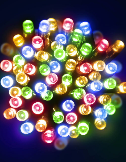 50 Multicolour LED Battery Lights