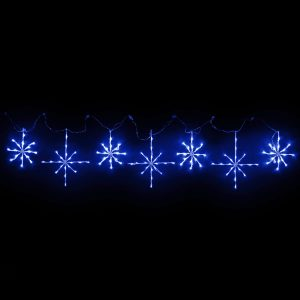 Blue Snowflakes Motif set of 7