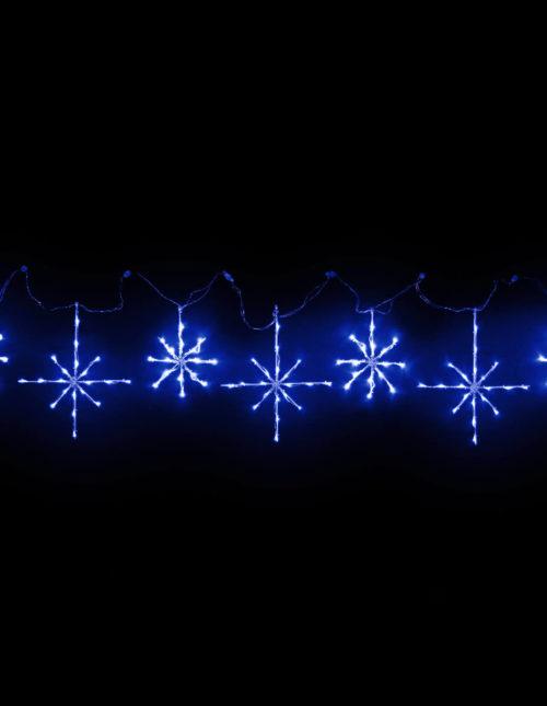 Blue Snowflakes Motif set of 7