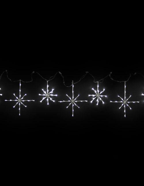 White Snowflakes Motif set of 7