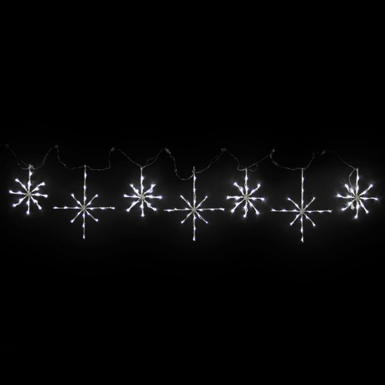 White Snowflakes Motif set of 7