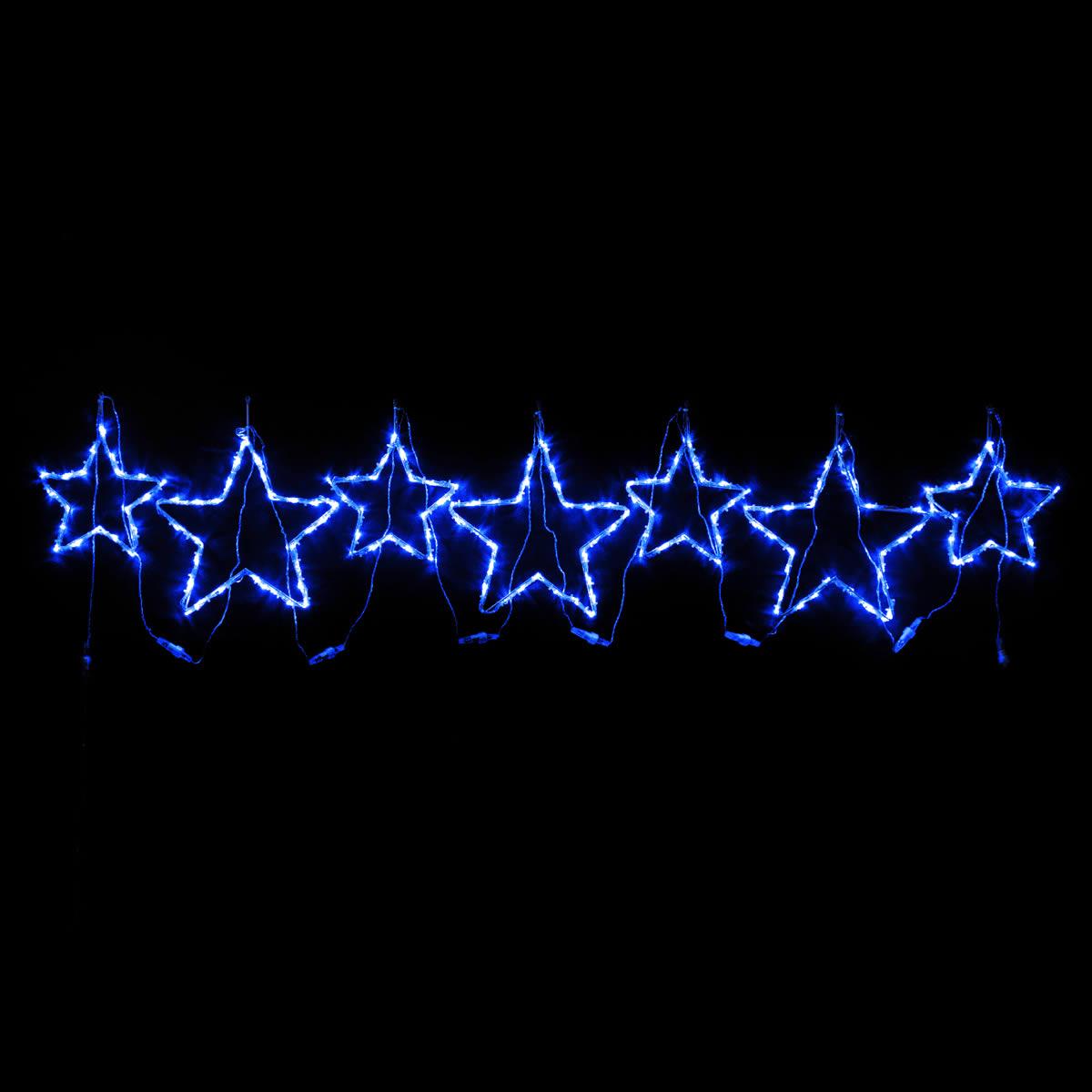 Blue Star Motif set of 7