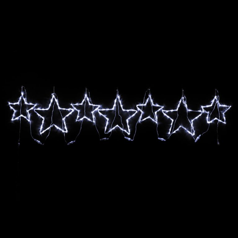 White Star Motif set of 7