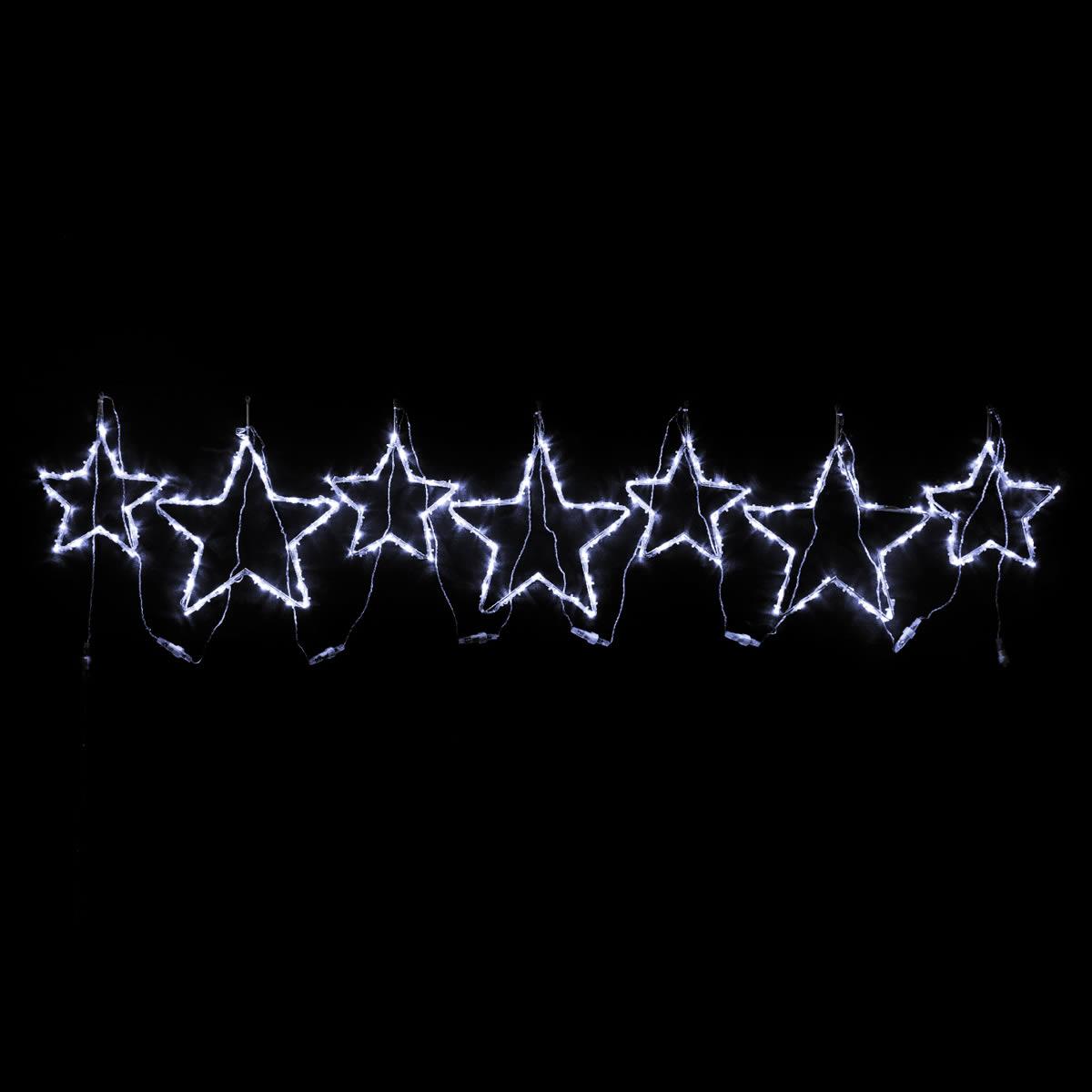 White Star Motif set of 7