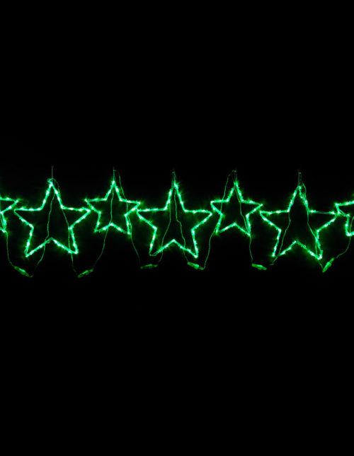 Green Star Motif set of 7