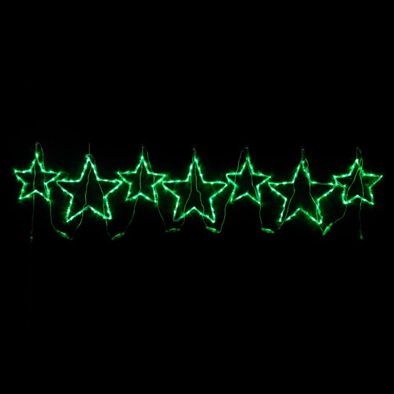 Green Star Motif set of 7