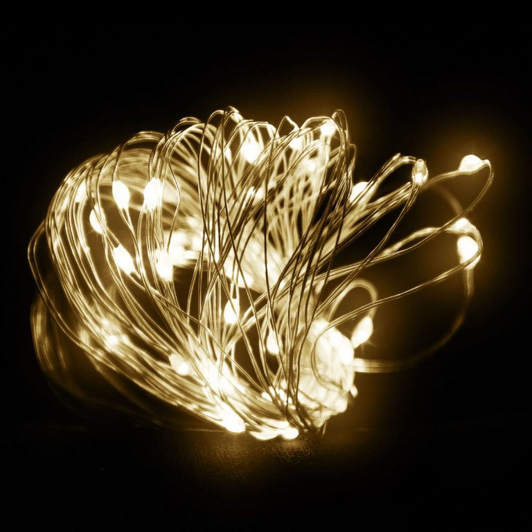 40 Warm White LED Copper wire B.opp