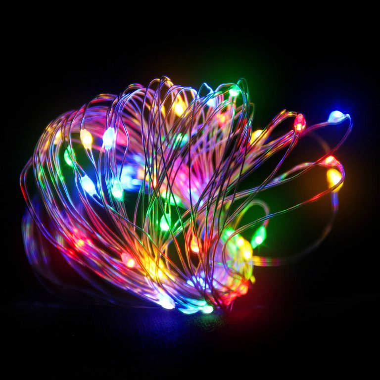 40 Multicolour LED Copper wire B.opp