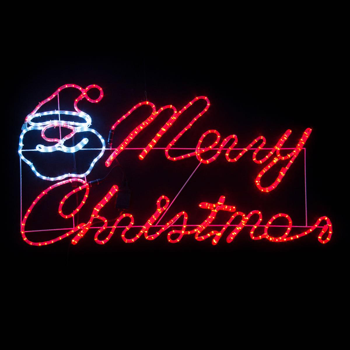 Merry Christmas with Santa LED Motif