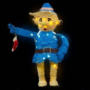 Elf Boy Tinsel WW LED 70cm