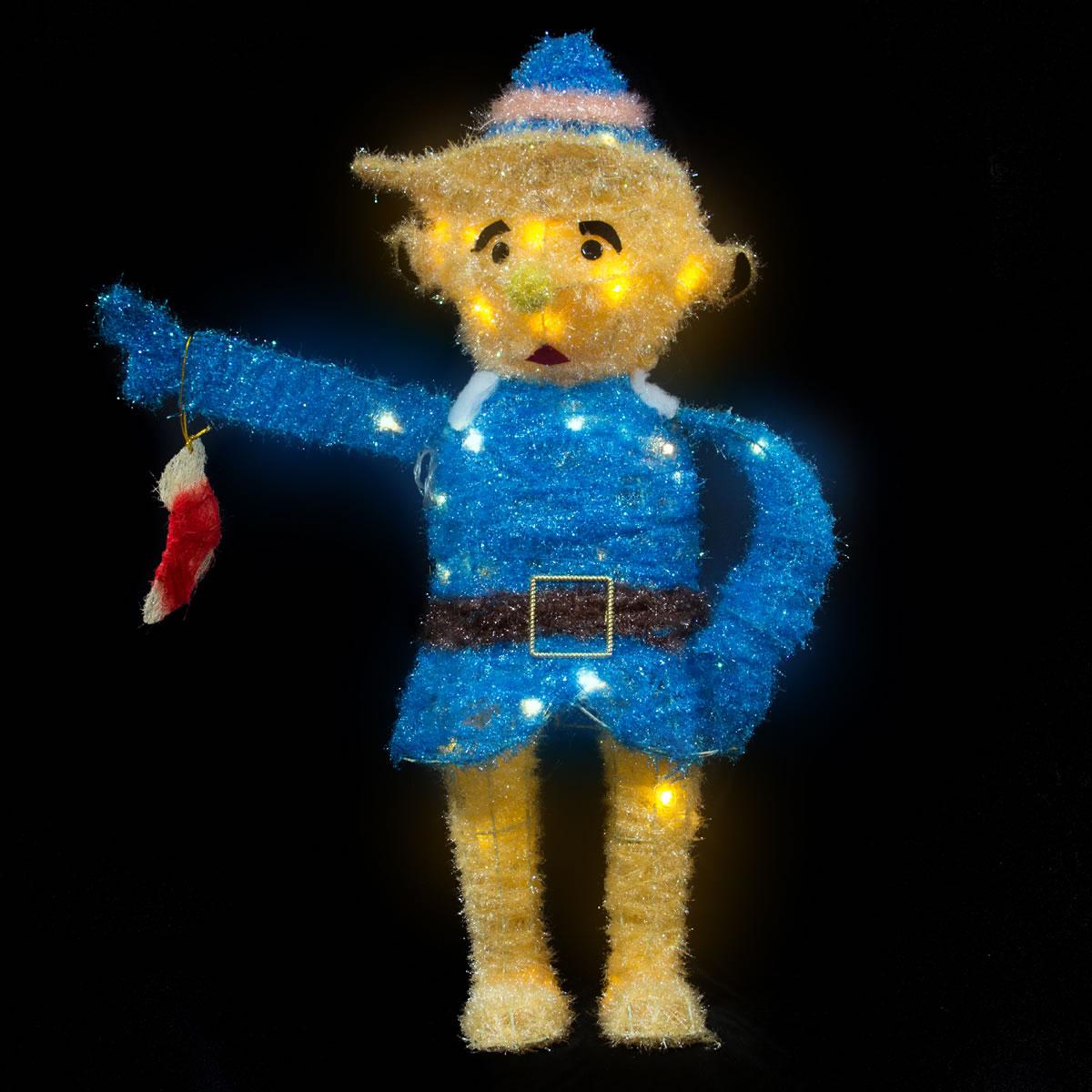 Elf Boy Tinsel WW LED 70cm