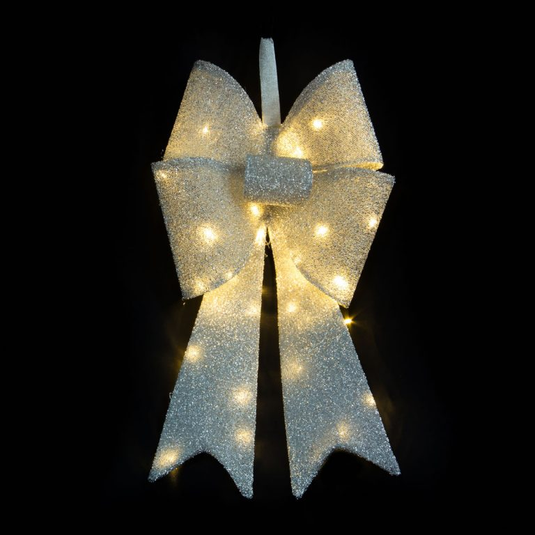 Silver LED Bowknot