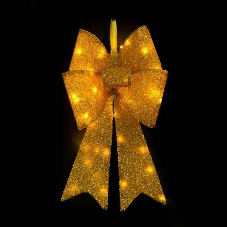 Gold LED Bowknot