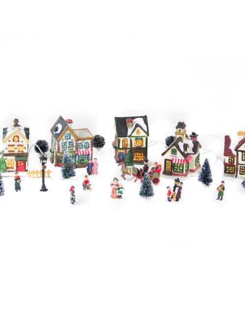 Five House Village set 24pcs b/o