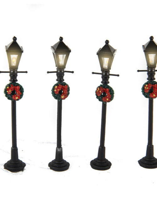 Street Lanterns with Wreaths 21cm s/4 bop