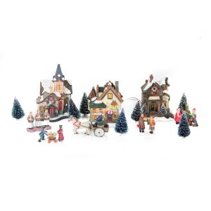 Three House Village 17pcs b/o