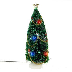 Lit Xmas Tree Lrg b/o 3V
