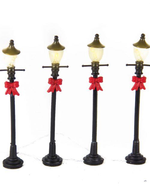 Street Lanterns with Bows 15cm s/4 bop