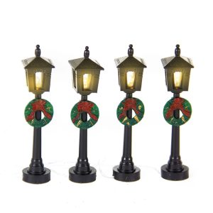 Street Lanterns with Wreaths 18cm s/4 bop
